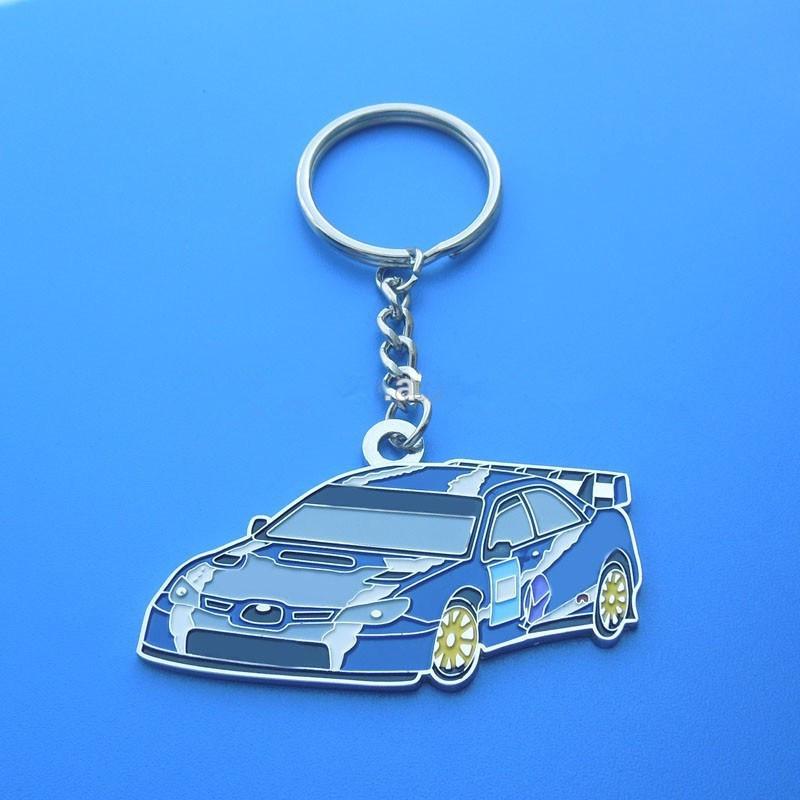 Soft Enamel Metal Keyring with Car Shape