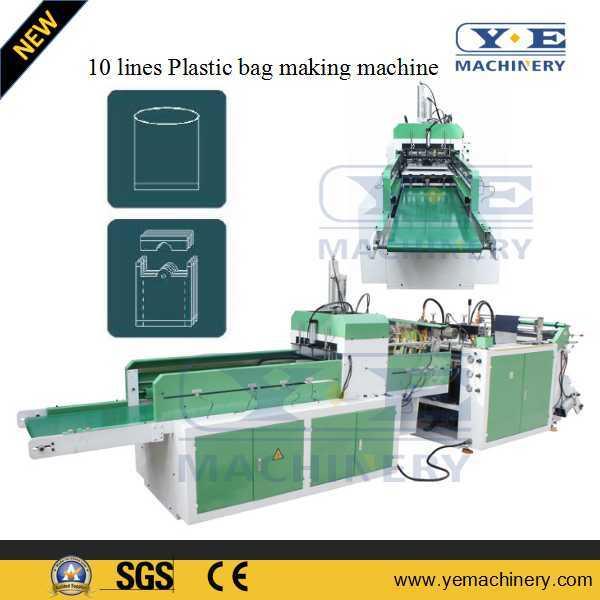China Single Line Plastic T Shirt Shopping Bag Making Machine