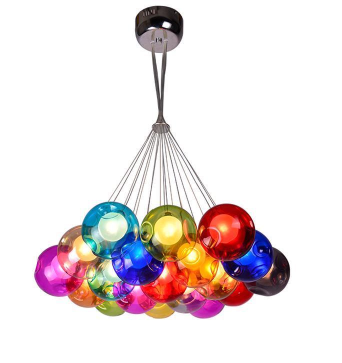 Modern Colorful Glass Chandelier Lamp (WHG-916)
