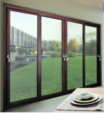 China aluminum multi leaf sliding door multi panel sliding for Multi sliding glass doors