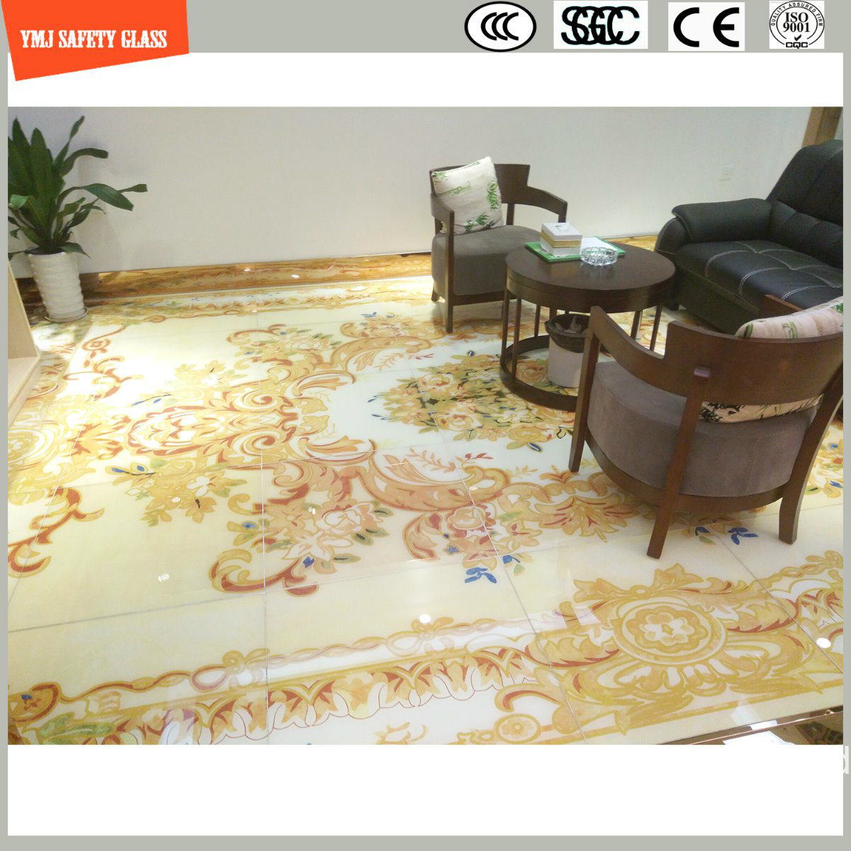 4-6mm Tempered Glass Marble for Wall and Floor