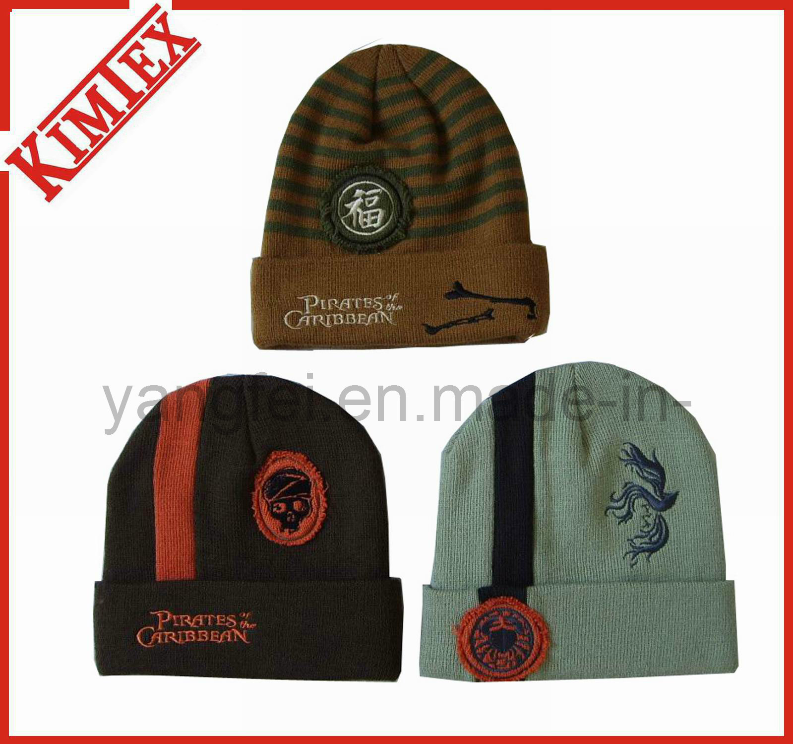 Winter Acrylic Jacquard Promotion Knitted Hat