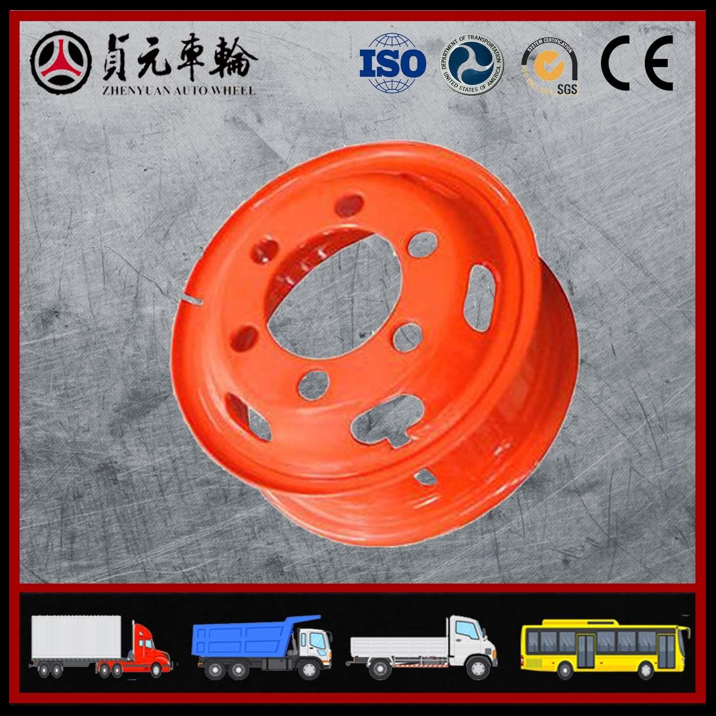 Tube Steel Wheel Rims for Truck Zhenyuan Auto Wheel (6.50-20)
