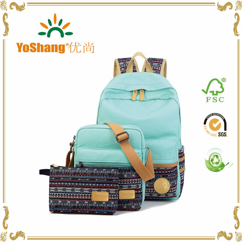 Casual Lightweight Canvas Laptop Bag Shoulder Bag School Backpack