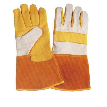 Cow Leather Work Glove for Welding