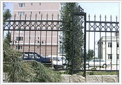 Rnamental Spear Top Security Steel Tubular Fence