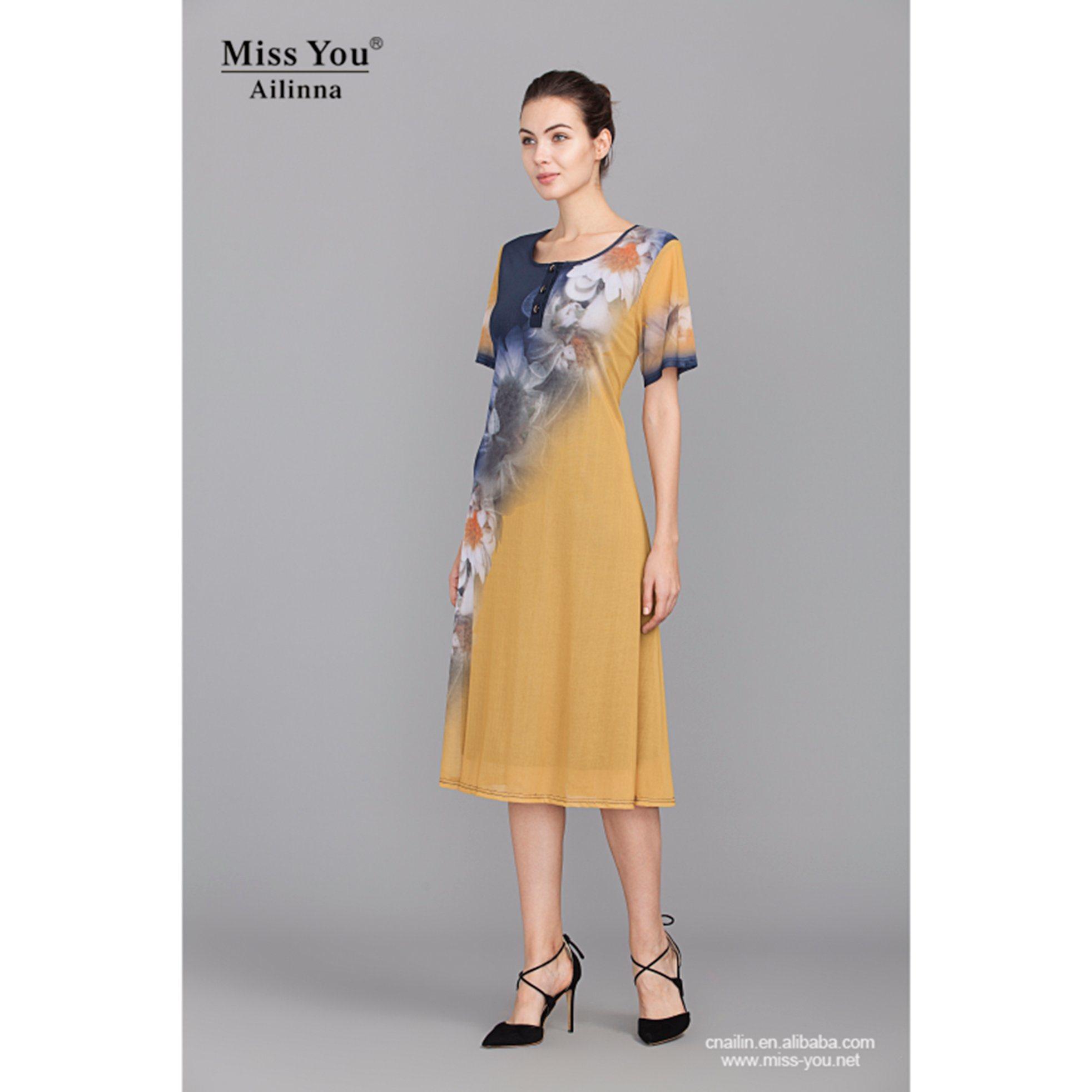 Miss You Ailinna 801829 New Design Women Cool Light Dress with Lining