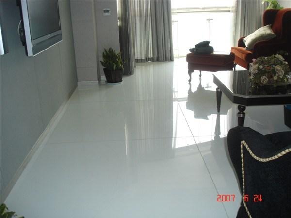 Glass Floor Tile China White Crystal Glass Environmental Floor Tile