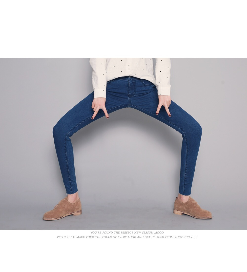 2017 Fashion Women′s Denim Stretch Cotton Jeans