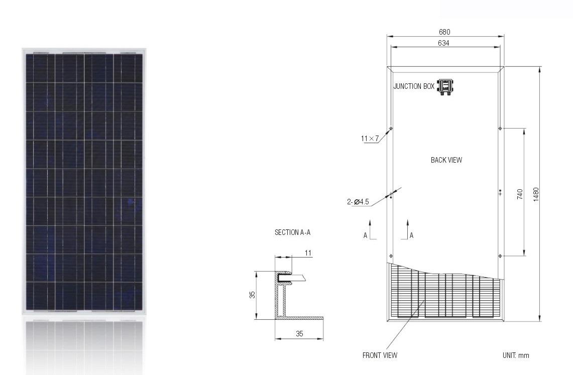 150W Solar Module PV Panel /Solar Panel with TUV