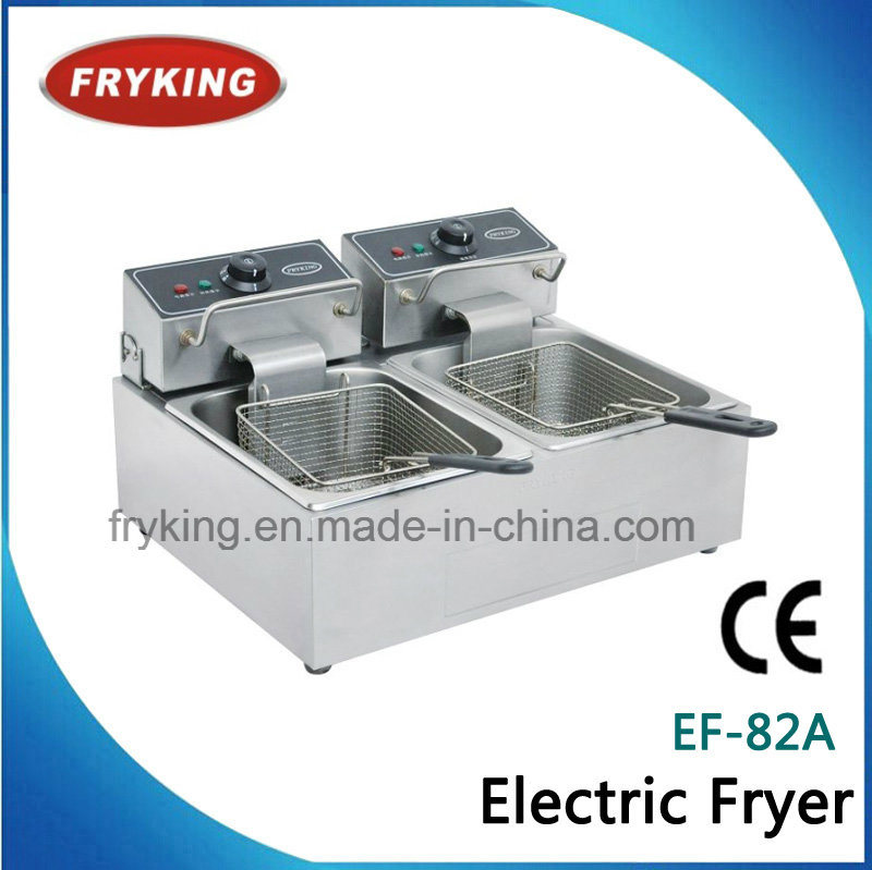 Double Tank Electric Open Fryer for Kitchen
