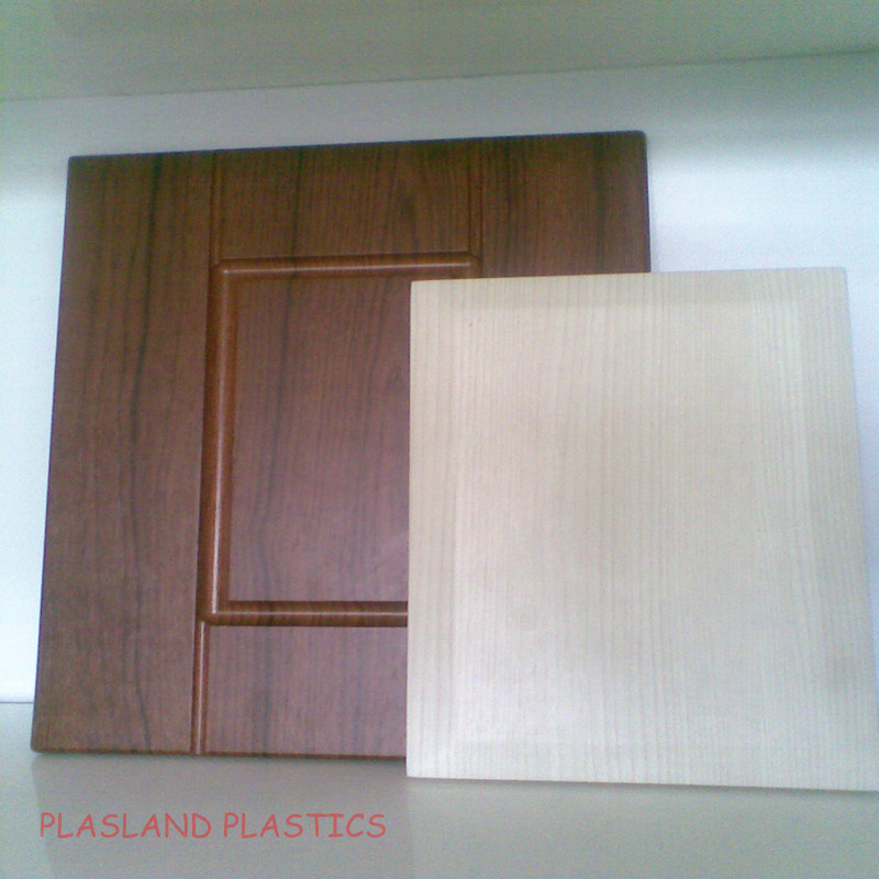 Vacuum Forming PVC Wood Sheet / PVC Wooden Grain Sheet