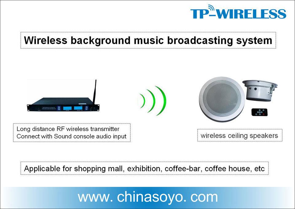 2.4GHz RF Hifi Wireless Ceiling Speaker for Background Music