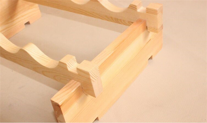 Natural Color Pine Wood Wine Rack with Size Custom Made