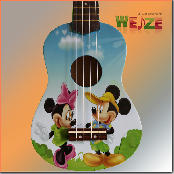 All Linder Plywood Ukulele with Decal