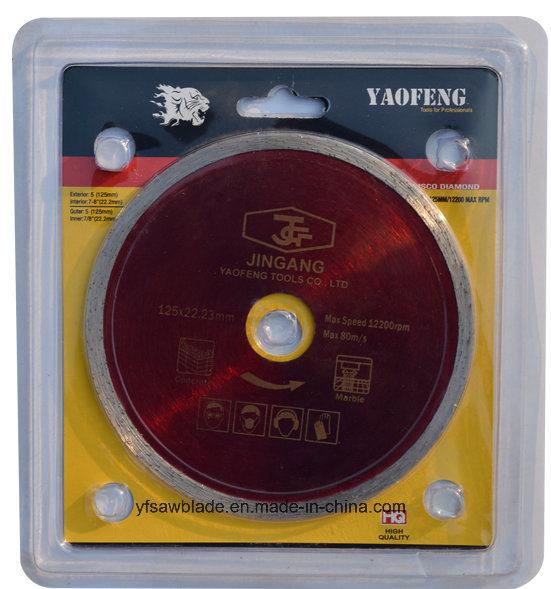 Continuous Rim Diamond Cutting Disc