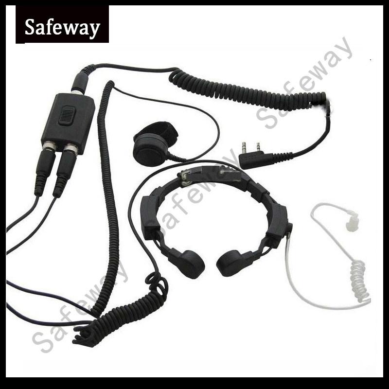 Throat Control Microphone for Kenwood Tk3107 Two Way Radio