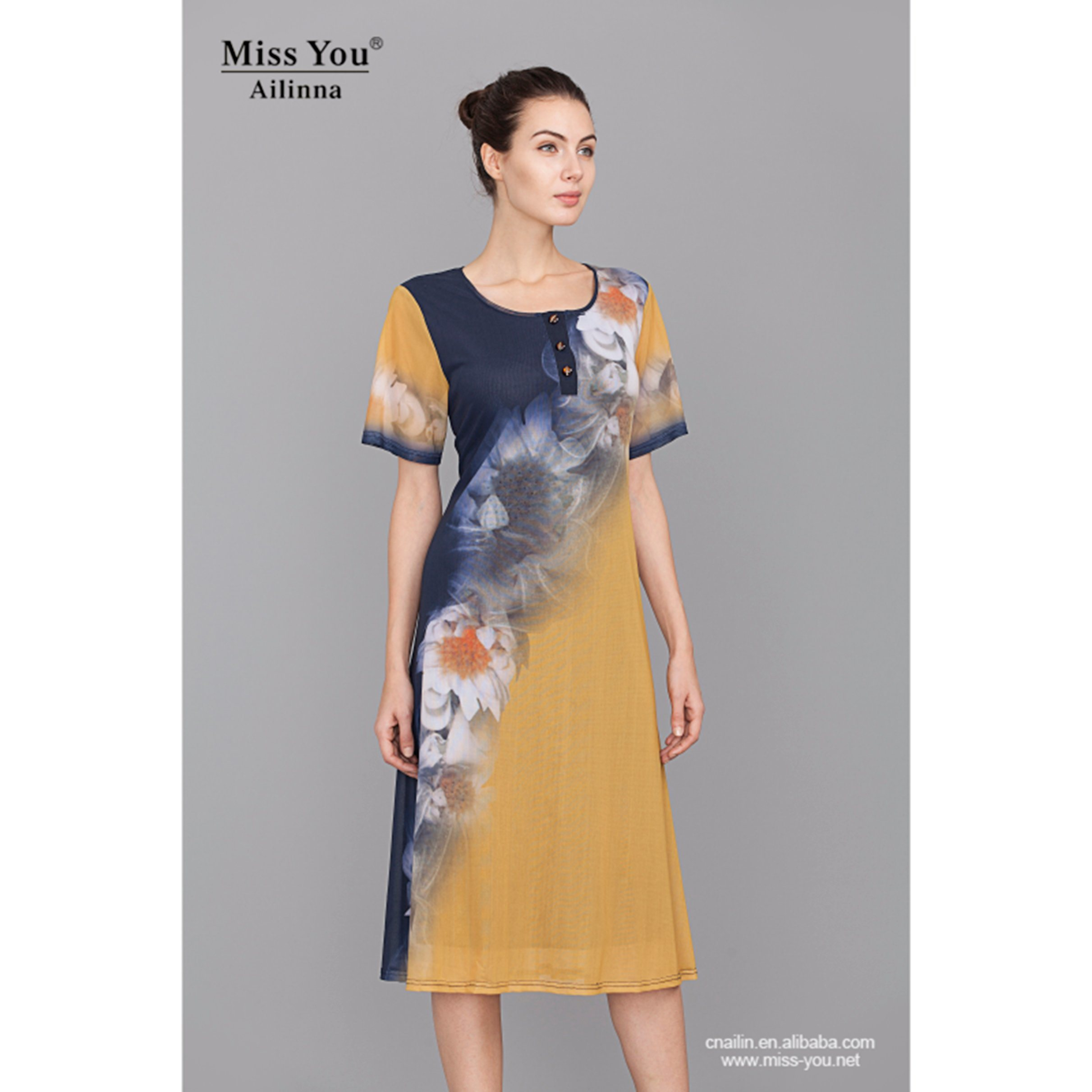 Miss You Ailinna 801829 New Design Women Cool Light Dress with Lining