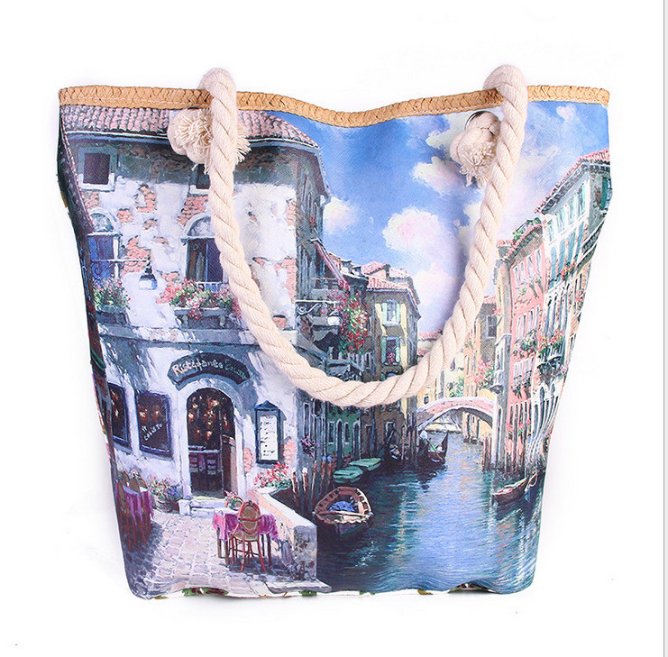 Fashion New Handbags Europe and America Town Fashion Printing Shoulder Bag