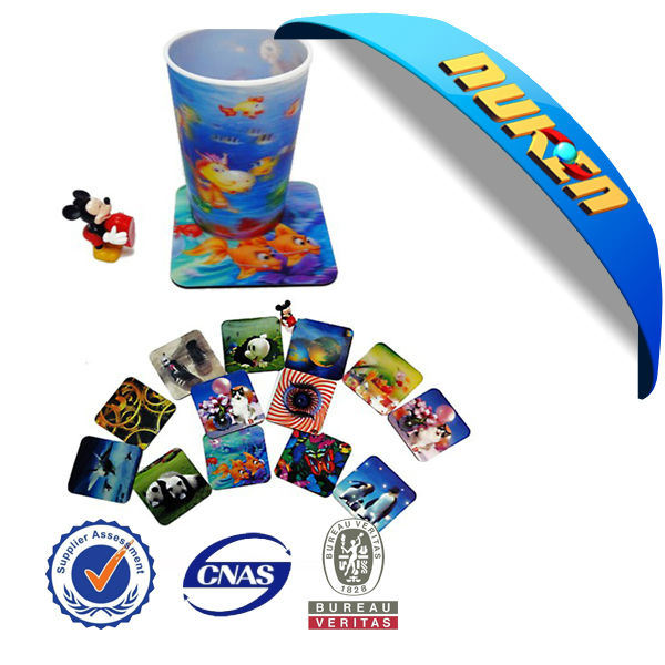 Customized Lenticular 3D EVA Cup Coaster