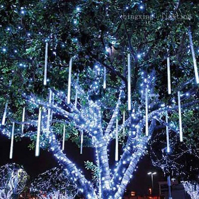 china 50cm led christmas meteor tube lights for home xmas tree holiday garden decoration china led meteor lights led snowfall lights - Tube Christmas Lights