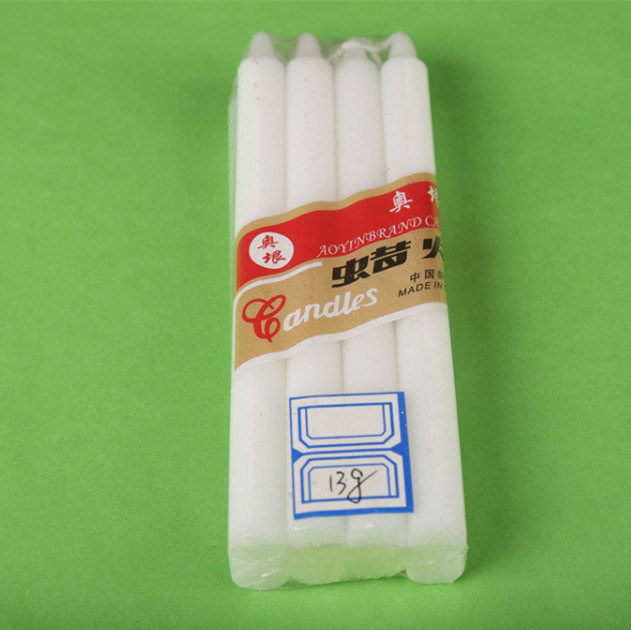20cm Popular Pure White Paraffin Candle