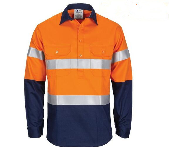 OEM Cheap Safety Jacket Hi Vis Two Tone Work Jacket