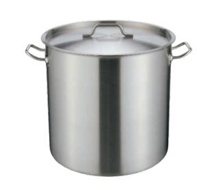 Tall Stainless Steel Stock Pot with Compound Bottom