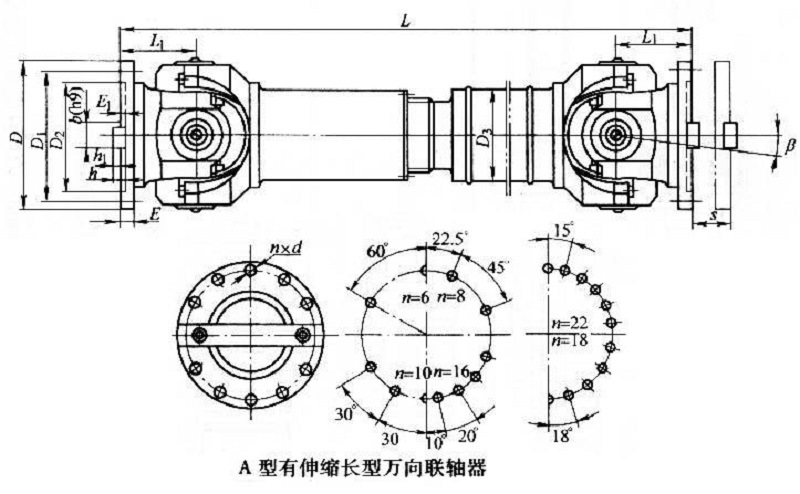 Swp-a Standard Telescopic Long Cardan Shaft