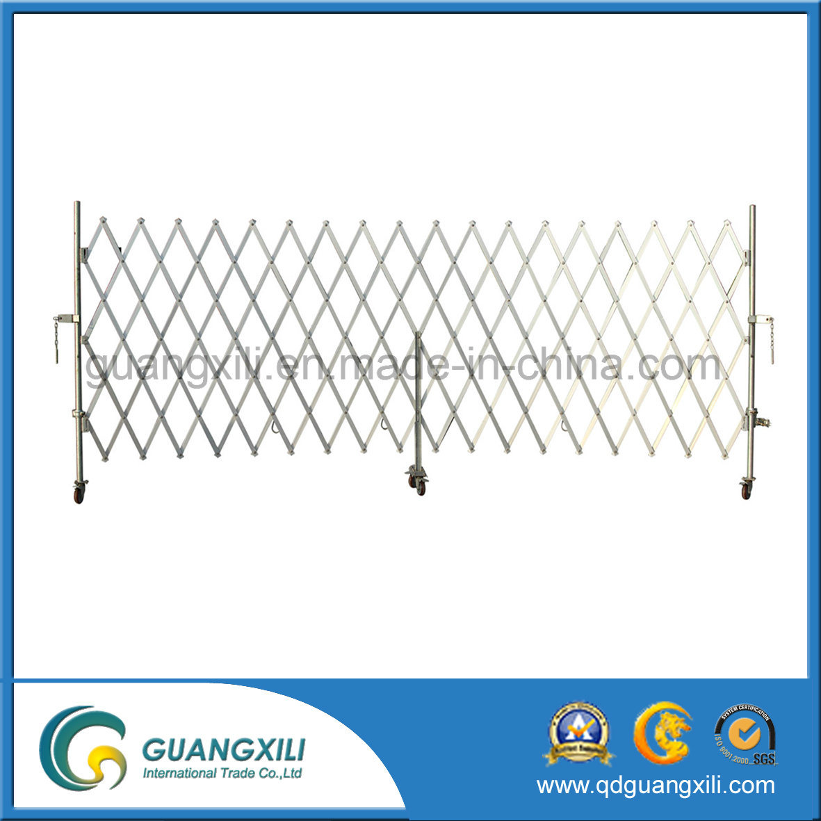 OEM New Design Aluminum Foldable Expandable Barrier Gate with Caster