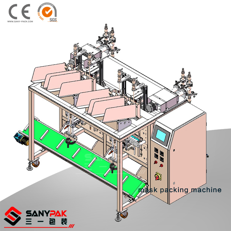 China Automatic Four Head Face Mask Forming Filling Sealing Machine
