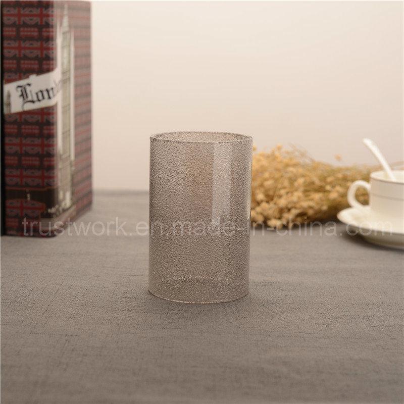 Smoking Sanded Jewel Glass Candle Holder