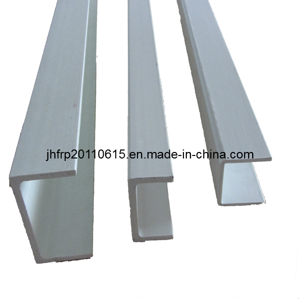 Grey Aluminium Color Anti-Corrosion Resistant FRP Profile Channel