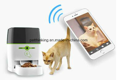 Remote Pet Feeder Advanced (With camera) for Dog and Cat, Automatic Remote Control Feeding