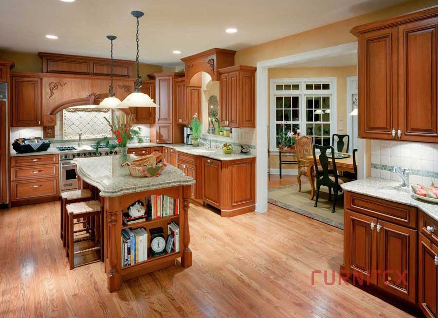 American Cherry Kitchen Cabinets Picture Ideas With Modern Kitchen