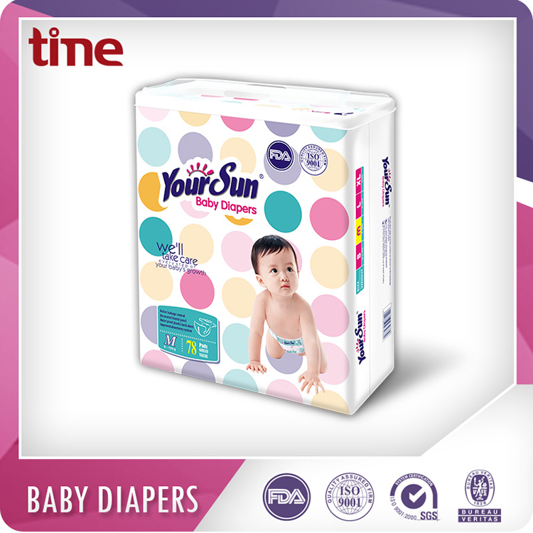High Absorption Breathable and Dry Diaper Pampering Baby Diapers
