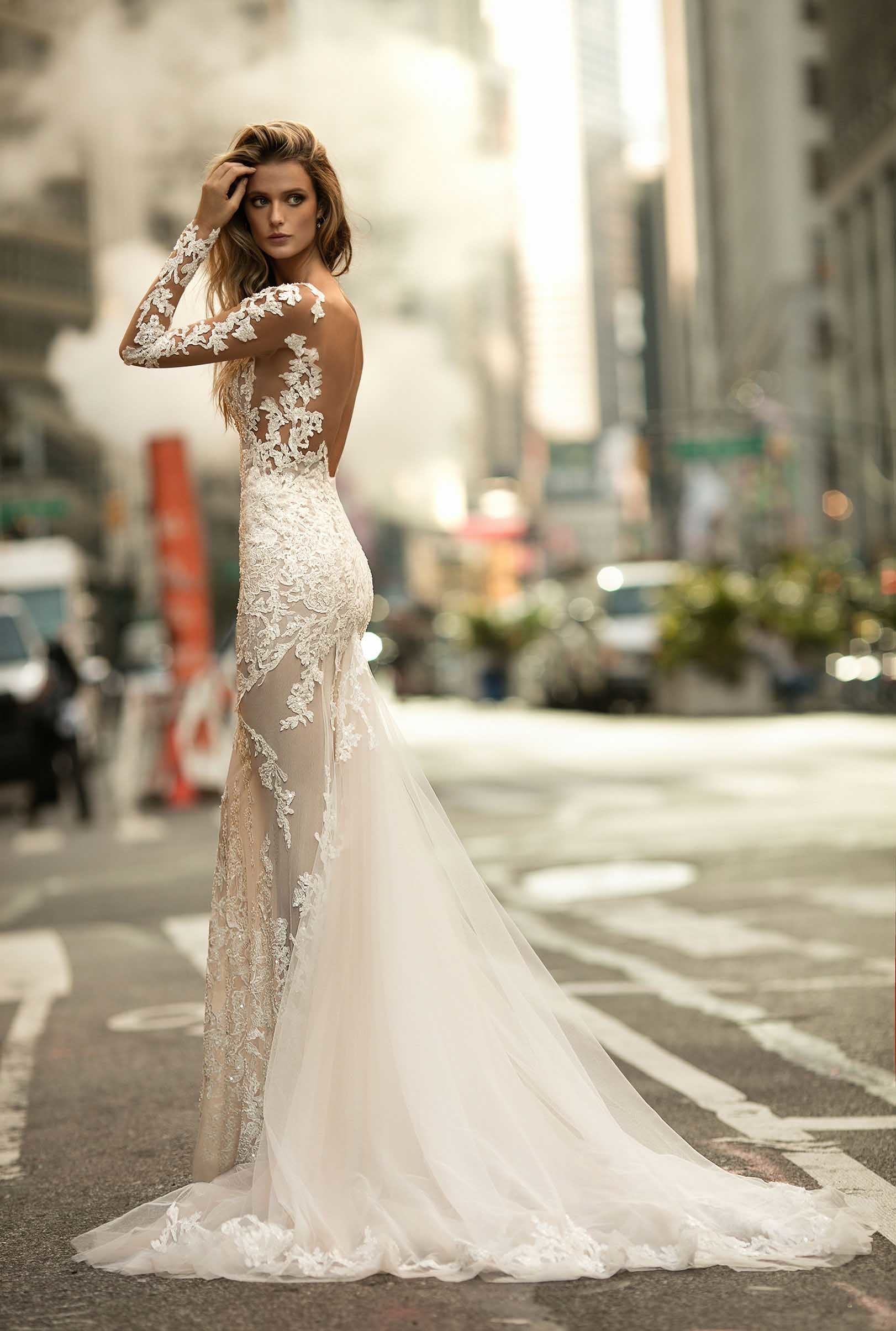 New Arrival 2017 Mermaid Full Lace Sleeve Wedding Dress