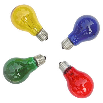 China Colored Incandescent Bulb China Incandescent Bulb Light Bulb