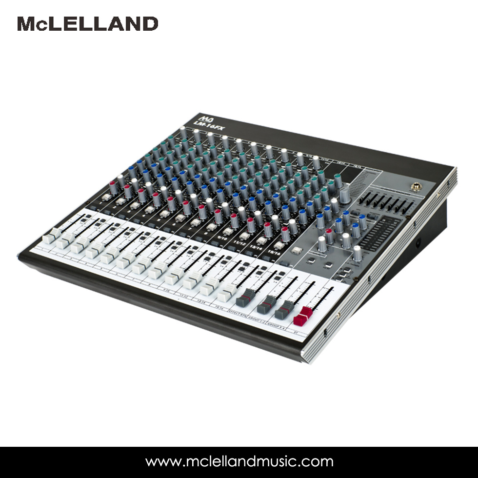16 - Input 6-Bus Mixer with Mic Preamps, Equalizer, Multi-Fx Processor / Audio Mixer (LM-16FX)