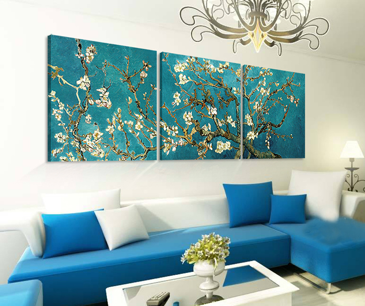 3 Piece Hot Sell Modern Wall Painting Van Gogh Painting Home Decorative Wall Art Picture Painted on Canvas Home Prints Mc-196