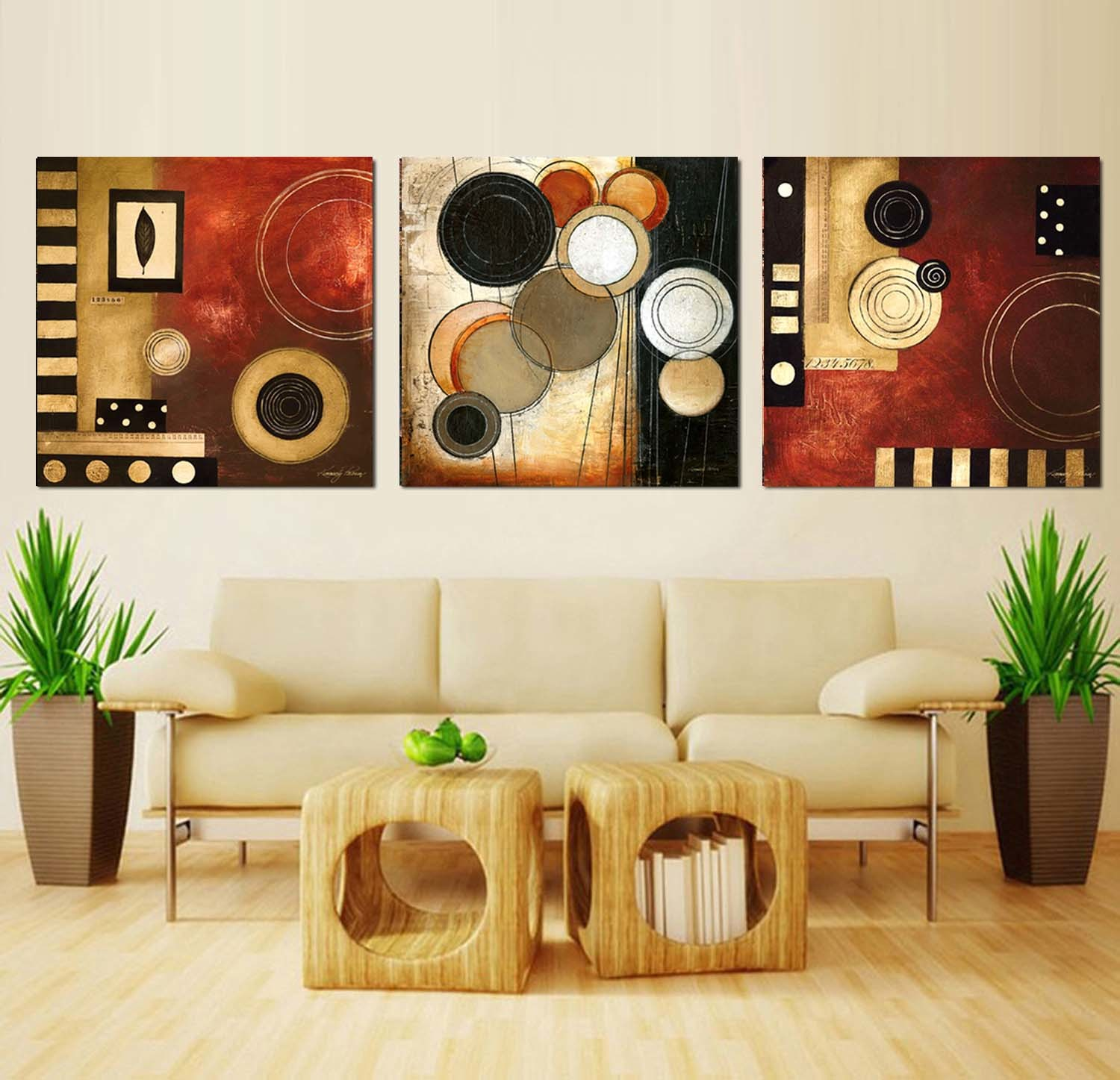 3 Piece Modern Wall Art Printed Painting Abstract Painting Room Decor Framed Art Picture Painted on Canvas Home Decoration Mc-250