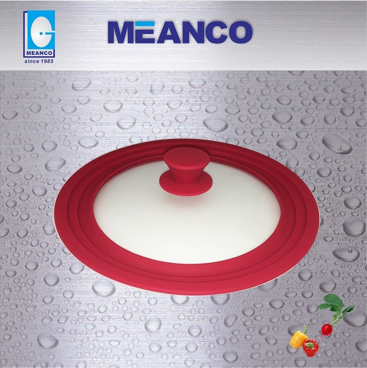 Tempered Glass Lid with Silicon Ring