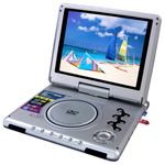 Rotatable Screen DVD Player with Game, FM