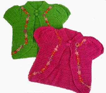 Crochet child sundress and matching bolero - YouTube