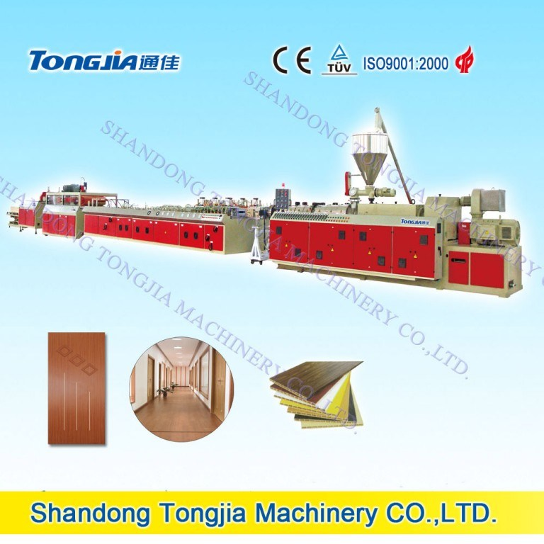 PVC Wood Plastic Composite Door Panel Extrusion Machine