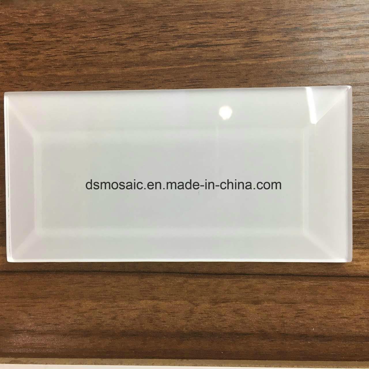 Hot Sale White Glass Mosaic Tile (Glass Brick 75*300)