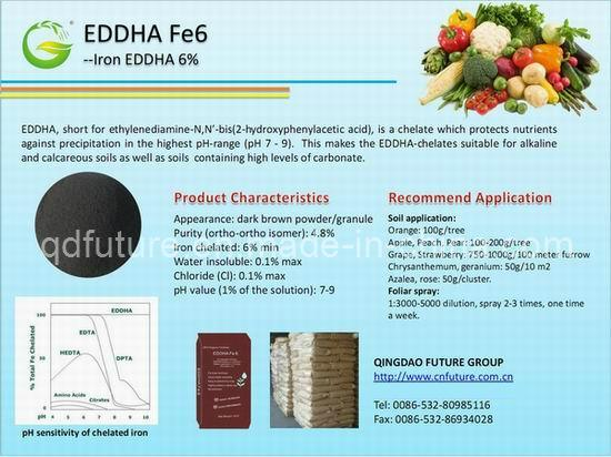 EDDHA Fe6 in Organic Fertilizer Products