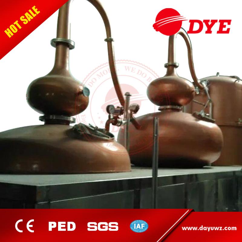 2500L Steam Heated Pot Still Distillation Unit Equipment for Brandy