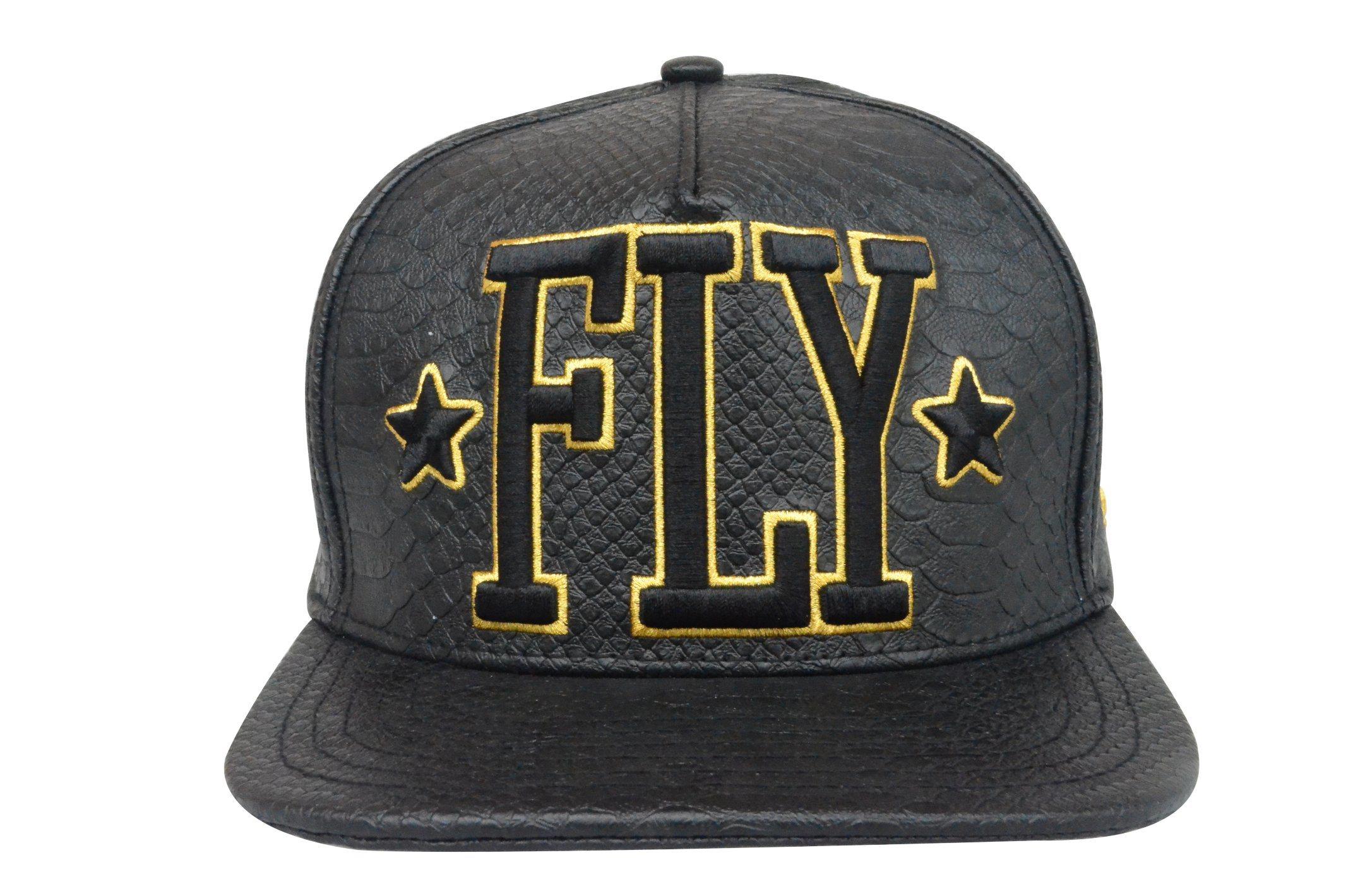Custom Black 5 Panels PU Embroidery Snapback 3D Caps and Hats