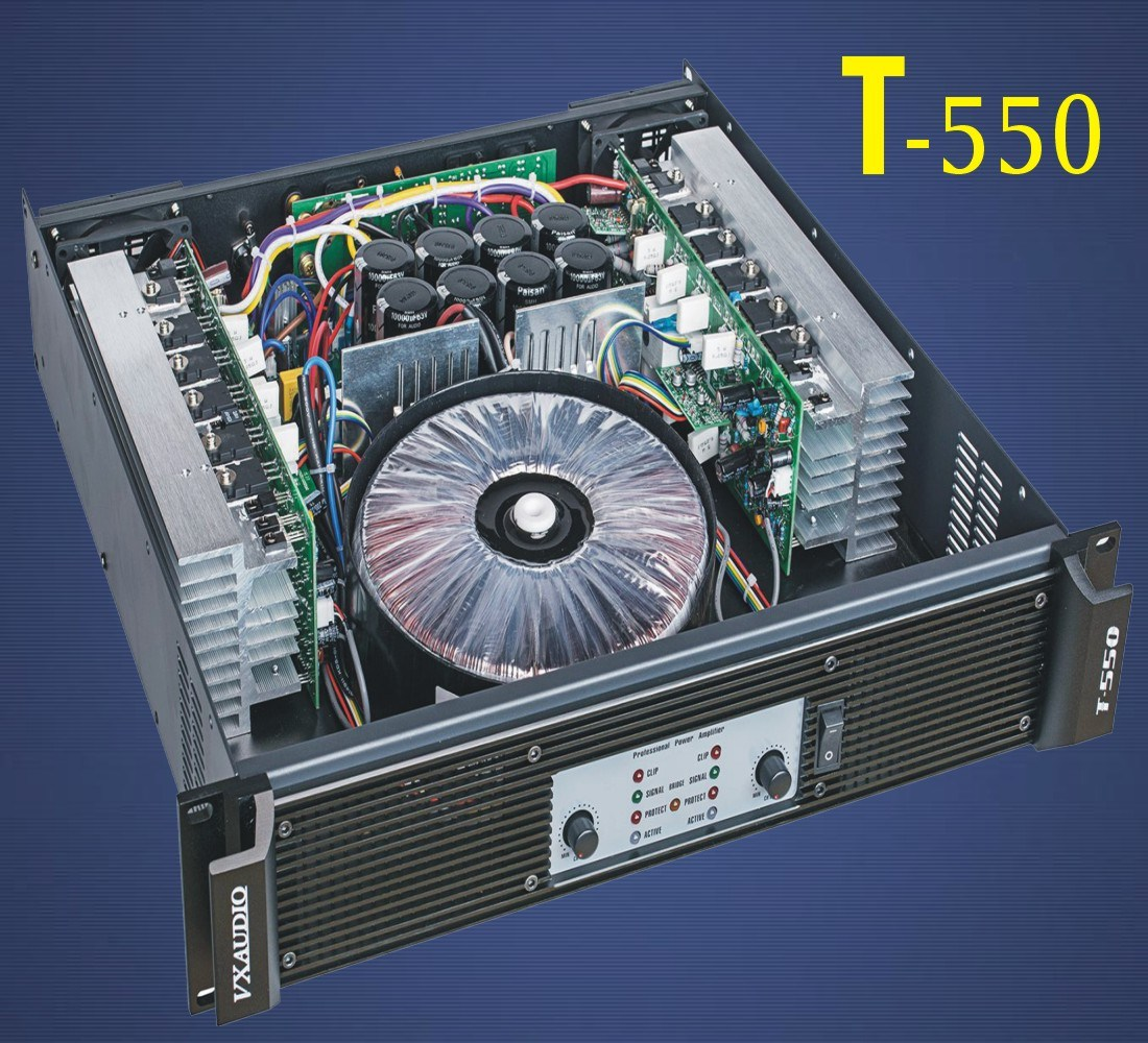 KTV High Quality 2 Channels Power Amplifier (T-550)